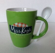 Miss Kay's Duck Commander Kitchen Green Ceramic Mug & Spoon 16 ounce Tea Cup