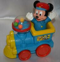 """DISNEY Mickey Mouse Waing in Push & Balls Spin Train Bell Wrings 7' x 7"""""""