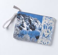 NEW ANTHROPOLOGIE Snow Capped Peaks Wristlet Clutch by Jasper & Jeera RARE
