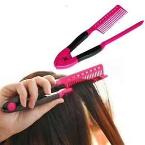 Fashion V Type Hair Straightener Comb DIY Salon Hairdressing Styling Tool