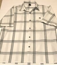 Plaid Shirt Made By Lowrider Size L Mens. Black And White Color Design