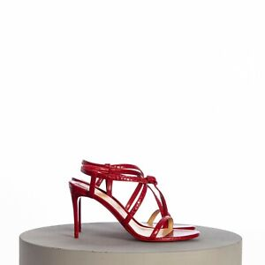 CHRISTIAN LOUBOUTIN 795$ Selima 85 Sandals In Red Croc Embossed Leather