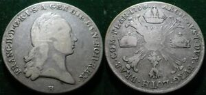 ORIGINAL 1795 AUSTRIA NETHERLANDS KRONENTHALER FRANZ II LARGE SILVER COIN
