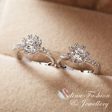 18K White Gold Plated Simulated Diamond Exquisite Sunflower Small Hoop Earrings