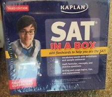 SAT In A Box New Sealed Kaplan Third Edition 600 flash cards NEW!!