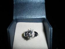 100% Original 18K Paraiba Turmalina & Diamante Anillo joya preciosa Ultra Raro
