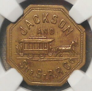 184. Atwood-Coffee TN 375A, Jackson & Sub. St. R.R. (Horsecar). NGC AU55