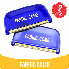 2 PACK Fabric Comb Metal Edge removes Lint Pilling Balls Fuzz from Jumpers Coats
