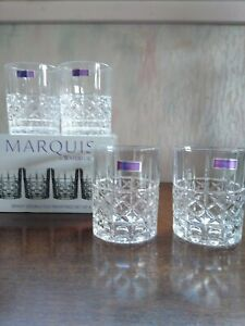 Marquis By Waterford Brady Double Old Fashioned Glasses Set Of 4 Never Used