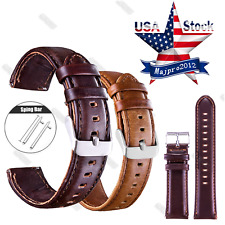20 22mm Quick Release Leather Watch Band Wrist Strap or Samsung Gear S2 S3 Watch
