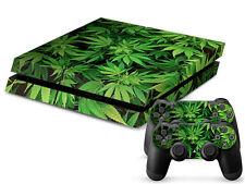 SONY PS4 PlayStation 4 SKIN Design Adesivo Pellicola Protettiva Set - CANNABIS 5