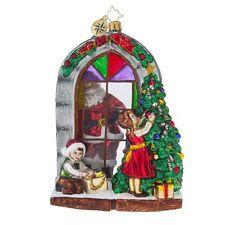 "Christopher Radko CHRISTMAS Ornament Preparing for Christmas GLASS 6.5"""