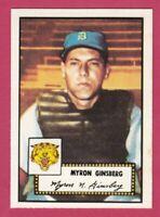1952 Topps Reprint # 192 Myron Ginsberg - Detroit Tigers
