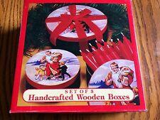 Christmas Crafts Wood Nesting Boxes, 3 Santa Gift Boxes, Westwood International
