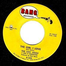 THE LOST SOULS The Girl I Love Vinyl Record 7 Inch US Bang B 509 1965