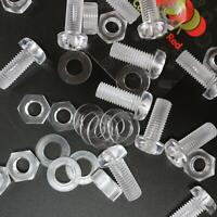 10 x Acrilico Bulloni e Dadi M8 x 20mm in Plastica Trasparente - Acrilico Viti
