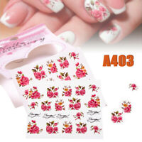 Sheet Flowers Nail Wraps Manicure Nail Art Stickers Decals Sheet DIY Tips
