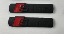 2 x Black Audi S Line Badge Emblem SLine A 1 2 3 4 5 6 8 Q RS