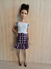 Barbie 2016 Plum Plaid Fashionistas Doll with Brown Hair