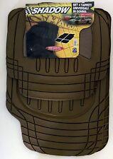 Tappeti auto gomma inserti in moquette universali antiscivolo sagomabili beige