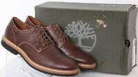 Timberland Naples Trail Brown Leather Lace-Up Plain Toe Oxford Shoes Men's US 9