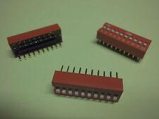 3 Codierschalter DIP-Schalter 10-polig Through Hole DIP Switches RM 2,54 x7,62mm