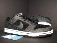 Nike Dunk Low Premium SB ENTOURAGE LIGHTS OUT PROMO SAMPLE BLACK WHITE CEMENT 9