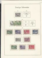 sweden 1933-38 stamps page ref 18054
