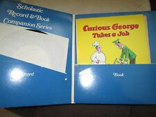 Rare * 1971 Scholastic Record & Book Companion Series *Curious George Takes Job