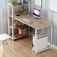 LKEA 40in Computer Desk With Bookshelf Home Office Desk Gaming desk,Office Desk
