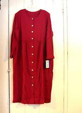 Blair Burgundy Button Front Poly/Cotton Knit Dress 2XL NWT