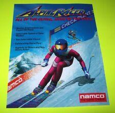 Namco ALPINE RACER Original 1995 NOS Video Arcade Game Paper Promo Sales Flyer