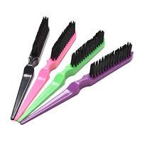 Pro Salon Hairdressing Teasing Back Hair Combing Brush Slim Line Styling Comb O2