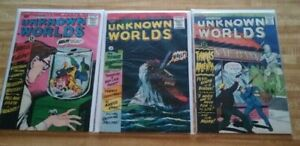 UNKNOWN WORLDS #35 #47 #54 ACG 1960 JOHN FORCE, MAGIC AGENT - HUGHES STONE DITKO