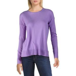 Aqua Womens Cashmere Hi-Low Crewneck Pullover Sweater Top BHFO 4732