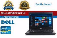 "Dell Latitude E6410 14"" Intel i5 4 GB RAM 320 GB HDD Windows 10 Pro Laptop WiFi"