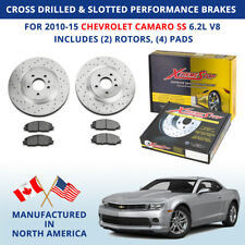 Cross Drilled & Slotted Performance Brakes for 2010-15 Chevy Camaro SS 6.2L V8