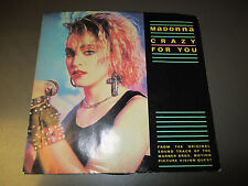 """1985 MADONNA – Crazy For You 7"""" 45 Picture Sleeve EX/VG+ GEFFEN 7-29051"""