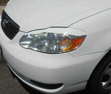 03-08 Corolla headlight eyelids eyebrows - Pre cut colored vinyl overlays White