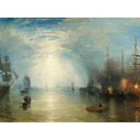 Turner Keelmen Heaving In Coals By Moonlight Canvas Art Print Poster