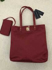 Tommy Hilfiger Tote Womens Handbags And Wallet Red Color Brand New With Tags