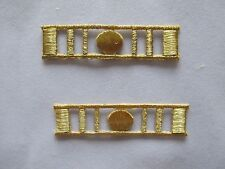 #2668 Lot 2Pcs Gold Military,United States Army Badge Embroidery Applique Patch