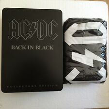 ACDC Official Back In Black - Brand New T Shirt & Tin Size Large