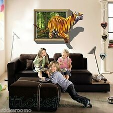TIGER 3d POSTER finestra Children's Room Wall Art Stickers VINYL Home Decoration
