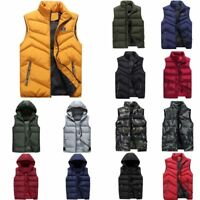 Men's Winter Vest Sleeveless Jacket Casual Outwear Waistcoat Jacket Coat Tops