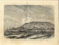 Stampa antica isola ALBEMALE o ISABELA velieri Galapagos Ecuador 1898 Old print