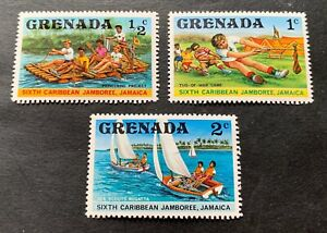 Grenada 1977 - 3 mint hinged stamps - Michel no. 843-845