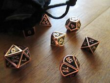 Copper Metalic Dice Set: Pathfinder, Dungeons and Dragons, D&D, d20, metal