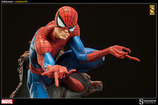 "SIDESHOW EXCLUSIVE SIGNED by ""STAN LEE"" SPIDER-MAN COMIQUETTE POLYSTONE Statue"