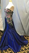 Ellie Wilde Mon Cheri #EW117077 #14579 Sexy Mermaid Prom Formal Dress SIZE 12